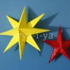 Объемные звезды из бумаги своими руками