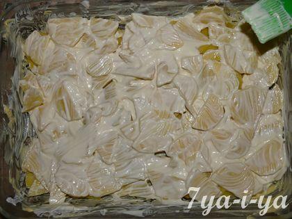 майонез на картошке