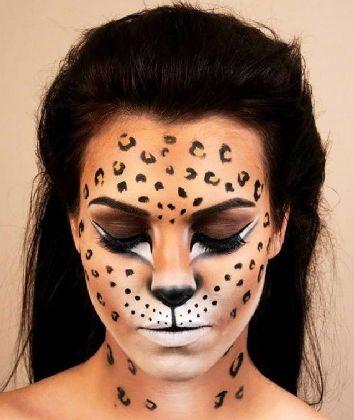 макияж леопарда