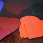 Гирлянда из сердечек из бумаги