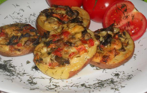 Рецепт фаршированный картофель с фаршем в духовке 53