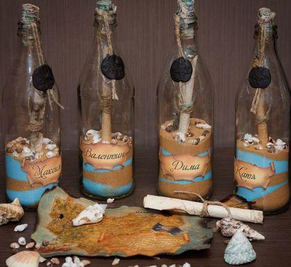 бутылка с приглашением