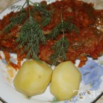 карась с овощами