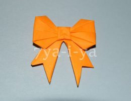 Оригами бантик из бумаги