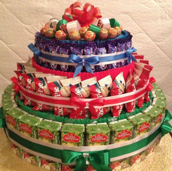 221Торт из конфет своими руками на день рождения ребенка видео