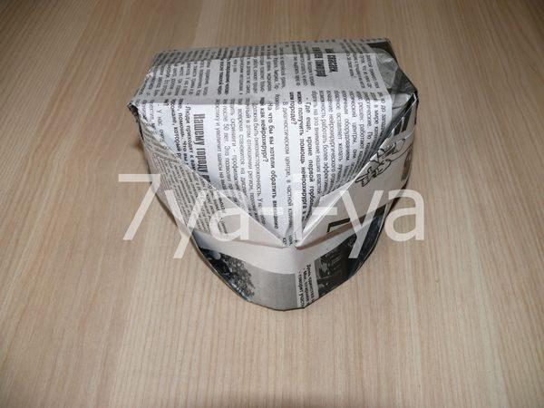 кепка из газеты с козырьком