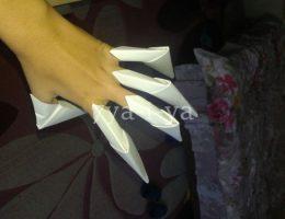 Как сделать из бумаги когти